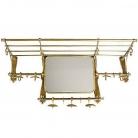 Eichholtz Garderobe Old French, Spiegel, Hutablage, Metall Bronzefinish, B 100 x H 45 x T 27 cm