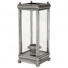 Eichholtz Windlicht Hurricane Prince Charles, Silber antik/Glas, B 21 x T 21 x H 52 cm