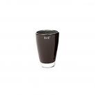 Collection DutZ® Vase, h 18 cm x Ø 12 cm, noir