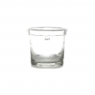 Collection DutZ® vase Conic, avec bord plier, h 13 x Ø 11 cm, transparent