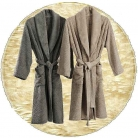 Abyss & Habidecor Super Pile Bath Robe, 100% Egyptian Giza 70 cotton, 700 g/m², Size M, 101 Ecru