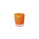 Collection DutZ® vase Conic, h 11 x Ø 9,5 cm, rouge orange