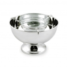 Edzard Caviar Server Palma with insert, shiny QualiPlated® with silver, h 14 x Ø 19 cm