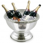 Edzard Champagne-Cooler/Wine-Cooler Schale Somerset with insert, shiny QualiPlated® with silver, h 22 x Ø 40 cm