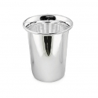 Edzard Drinking Cup Douglas, shiny QualiPlated® with silver, h 10 x Ø 6 cm
