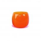 Collection DutZ® vase/récipient Pot, h 14 x Ø 16 cm, orangé rouge