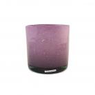 Henry Dean Vase/Windlicht Cylinder, H 15 x Ø 15 cm, Lila