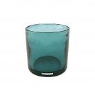 Henry Dean Vase/Windlicht Cylinder, H 15 x Ø 15 cm, Lagoon