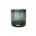 Henry Dean Vase/Windlicht Cylinder, H 15 x Ø 15 cm, Smoke