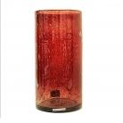 Henry Dean Vase/Windlicht Cylinder, H 30 x Ø 15 cm, Garnet
