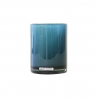 Henry Dean Vase/Windlicht Cylinder, H 13 x Ø 10 cm, Lagoon
