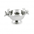 Edzard Bowl on Foot Elk, shiny QualiPlated® with silver, h 14 x Ø 16 cm