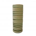 XO dsgn Vase Cilinder Rings, cut, h 30 x Ø 12, grey/beige