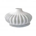 XO dsgn Vase Disc, cut, h 15 x Ø 31 cm, white