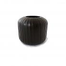 XO dsgn Vase Bambola Straight, cut, h 20 x Ø 19 cm, dark grey