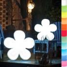 8-Seasons-Design-Leuchtobjekt, Blume, Weiß, Ø 40 x T 10 cm, Indoor/Outdoor, LED-Farbw./Fernbed., CE IP44, Netzstecker, 5 m Kabel