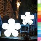 8-Seasons-Design-Leuchtobjekt, Blume, Weiß, Ø 60 x T 14 cm, Indoor/Outdoor, LED-Farbw./Fernbed., CE IP44, Netzstecker, 5 m Kabel
