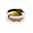 Edzard Bowl/Salad Bowl Grit, crystal glass Platinum coated, h 7 x Ø 15 cm