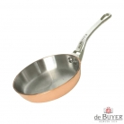de Buyer, Pan, round, 90% copper, 10% stainless steel, solid cast stainless steel handle, Ø 20 cm