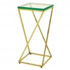 Eichholtz Champagne Cooler/Wine Cooler stand, Side Table Clarion, gold finish/glass, l 24 x w 24 x h 50 cm