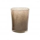 DutZ®-Collection Vase Conic, H 23  x  Ø.20 cm, silver/brown with bubbles