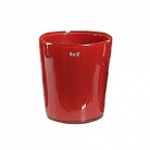 Collection DutZ ®  vase Conic, h 23 x Ø 20 cm, Colori: rouge