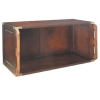 Shelf System Library Brown, antique design shelf element, high, open, brass fittings, cherry, birch, maple, Dimensions: l 80 x h 44 x d 39 cm