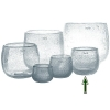 DutZ®-Collection Vase Pot, h 14 x Ø 16 cm, clear with bubbles