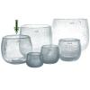 DutZ®-Collection Vase Pot, h 18 x Ø 20 cm, clear with bubbles