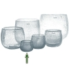 DutZ®-Collection Vase Pot Mini, h 7 x Ø 10 cm, clear with bubbles