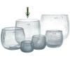 DutZ®-Collection Vase Pot, h 22 x Ø 25 cm, clear with bubbles