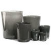 Collection DutZ® vase Conic, h 17 x Ø 15 cm, Colori: gris foncé