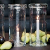 DutZ®-Collection Windlight Hurricane, folded rim and candle holder, h 34 x Ø 15 cm, clear