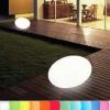 8-Seasons-Design-Light-Object, Oval, white, l 46 x w 24 x h 42 cm, Indoor/Outdoor, LED-color change/remote ctrl, CE IP44, power plug, 5 m cable