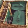 Picknick-Korb Premium für 6 Personen, Weide natur/Leder/Baumwolle, voll ausgestattet, L 62 x B 44 x H 23 cm