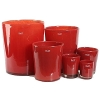 Collection DutZ ®  vase Conic, h 14 x Ø 12 cm, Colori: rouge