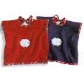 Überzieh-Lätzchen Sleepy Sheepy, BW-Frotte, Farbe Rot, Karobesatz/Schäfchen-Applik., Maße: L 56 x B 36 cm