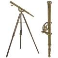Eichholtz Télescope avec trépied, laiton antique, gross. 7-fois, trépied bois marron/laiton antique, h 170 cm x Ø 65 cm