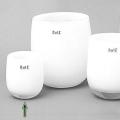 Collection DutZ® Vase Barrique, h 13 x Ø 10 cm, blanc