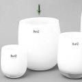 DutZ®-Collection Vase Barrel, H 24 x Ø 18 cm, Weiß