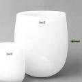 Collection DutZ® Vase Barrique, h 32 x Ø 27 cm, blanc