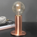 Edgar Design Tischlampe Sol, Kupfer, 3-stufiger Touchdimmer, inkl. sphärischer Edison-Glühbirne E27/40W, H 24 x Ø 11 cm