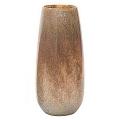 DutZ®-Collection Vase Robert, H 50 x Ø 14 cm, Silber/Braun mit Bubbles