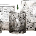 DutZ®-Collection Vase Cylinder, h 19 x Ø 15 cm, clear with metal flakes