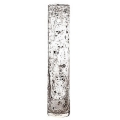 DutZ®-Collection Vase Cylinder, h 50 x Ø 10 cm, clear with metal flakes