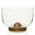 Sagaform Design Bowl/Salad Bowl with oak wood base, h 15 x Ø 22 cm