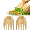 Sagaform Design Salad Servers Hands, solid oak, l 16 x w 11 x h 1.3 cm