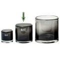 DutZ®-Collection Windlicht Votive, H 10 x Ø 10 cm, Smoke