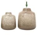 DutZ®-Collection Vase Tisza, H 23 x Ø 21 cm, Klar mit Metallflakes