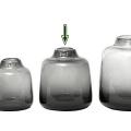 DutZ®-Collection Vase Tisza, H 19 x Ø 18 cm, Smoke